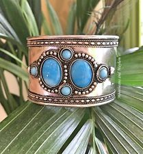 Moonbeams and Mayhem Hippie Boho, Bohemian, Cuff Bracelets, Bangles, Boho Jewelry, Turquoise Bracelet, Gypsy, Jewels, Bracelets