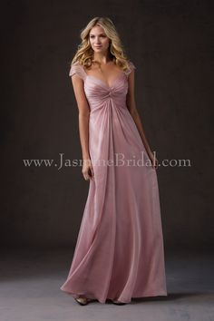 Jasmine Bridal - Belsoie Style L184053 in Belsoie Tiffany Chiffon, color Misty Pink