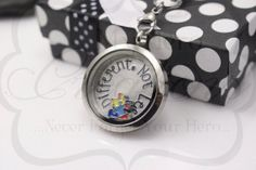 HandStamped Autism Support 30mm Stainless Steel by MyHeroCreations, $28.00