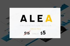 ALEA - Powerpoint Templates by SlideFusion on @creativemarket