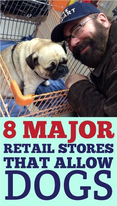 8 major retail stores that allow dogs! Did you know about all of these? I didn't!