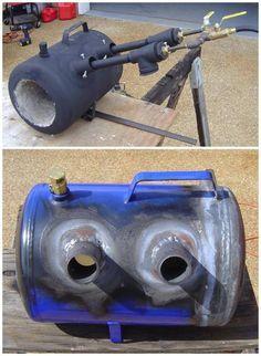 Forge Burner, Gas Forge, Propane Forge, Blacksmith Forge, Homemade Forge, Homemade Tools, Build A Forge, Mini Forge, Forging Tools