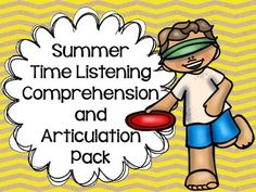 """ARTIC AND LISTENING COMPREHENSION!  Target listening comprehension skills and articulation with this activity that includes 12 """"summer"""" stories with listening comprehension questions and a list of targeted speech sounds. Targeted sounds include /r/, /s/, /l/, /sh/, /ch/, and /th/!"""