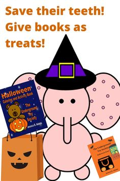 Fill Halloween treat bags with great Halloween activities and books! Save their teeth! Give books as treats instead! Books make great Halloween party favors too! Find the coloring book at getbook.at/HalloweenColoringBook or buy Sneaky Snake's Halloween Scare book at viewbook.at/HalloweenScare