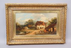 This is a beautiful estate found oil painting on board by English artist Georgina Lara (alternatively known as George). Lara was born c1836 in Sevenoaks and did not receive much formal training. Her works became known through local exhibitions and shows, earning many medals and honors over the years. | eBay!