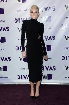 Miley Cyrus showed off her trim figure in this '90s fab cutout dress at VH1 Divas. Brand: Omo by Norma Kamali