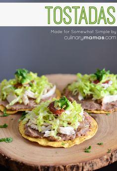 tostadas recipe - perfect for cinco de mayo! #dinnerideas