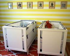 """Yellow """"Lemon Twist"""" Twin Nursery - Project Nursery"""