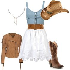 Nice contemporaneous chic country outfit! Will love to go down to savannah for square dancing in this!;-) (casual country outfits)