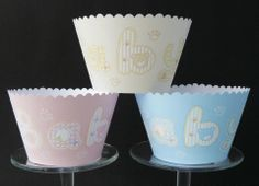 'Baby' Cupcake wrappers. £2.70 for 6 + postage. £5.20 for 12 + postage.