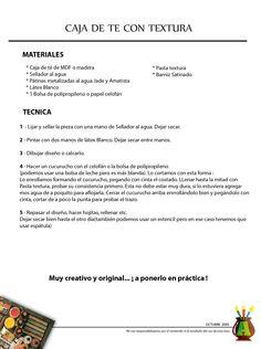 2005/10 - Consejo del Mes - Octubre 2005 - Caja de té con textura