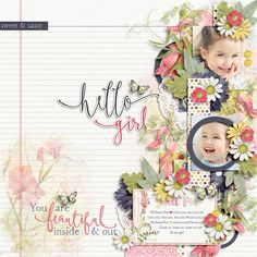 Hello Sweet Pea Collection by KimB Designs http://shop.thedigitalpress.co/Hello-Sweet-Pea-The-Collection.html   October Steps 2 Template by Tinci Designs http://scraporchard.com/market/October-steps-2..html