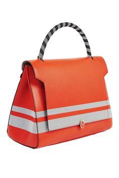 A color-blocked handbag by Anya Hindmarch. [Courtesy Photo]