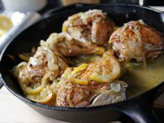 Skillet-Roasted Lemon Chicken recipe from Ina Garten via Food Network