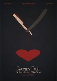 Sweeney Todd in Minimalist Movie Posters. by charlotte_frederick