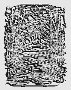 Pablo Siquier, 1018, 2010 Black And White Canvas, Geometry Art, Op Art, Abstract Expressionism, Contemporary Artists, Im Not Perfect, Art Gallery, Drawings, 3d