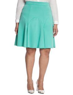 Pleated Scuba Mini Skirt   Women's Plus Size Skirts   ELOQUII
