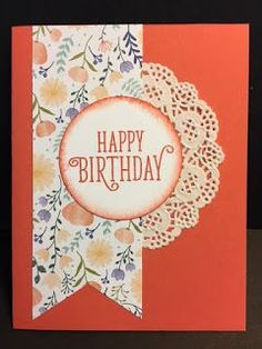 Ribbon of Courage, Birthday Card, Stampin' Up!, Rubber Stamping, Handmade Cards
