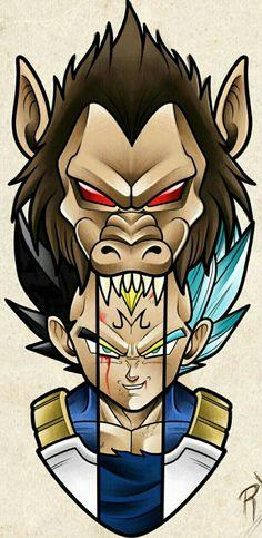 Daily dragon ball the many forms of Vegeta & Manga Majin Tattoo, Z Tattoo, Dragon Ball Gt, Dragonball Anime, Super Vegeta, Anime Tattoos, Cover Design, Anime Art, Tattoo Sketches