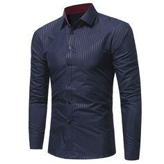 Men Shirt 2017 New camisa masculina fashion Brand Business Men's Slim Fit Dress Shirt Male Long Sleeves Casual Shirt size M-3XL //Price: $24.10 & FREE Shipping //     #hashtag1