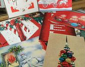 Vintage Christmas cards for paper crafting!