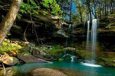 Waterfall in the Arkansas Ozarks - Pixdaus