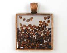 Coffee Jewelry Coffee Bean Pendant Coffee by BeautifulByCharlene. etsy.com