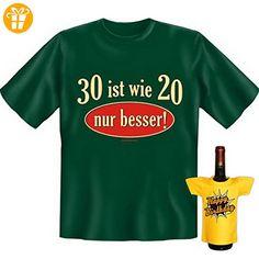 Klasse Set zum Geburtstag : 30 ist wie 20, nur besser ! mit Mini T-Shirt ! Happy Birthday von Goodman Design® - Shirts zum 30 geburtstag (*Partner-Link)