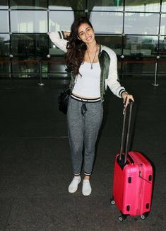Disha Patani at Mumbai airport. #Bollywood #Fashion #Style #Beauty #Hot #Sexy