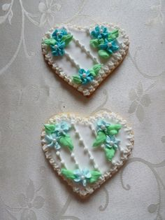 Heart shaped hand-decorated sugar cookie by CreativeChaosinCT, $60.00