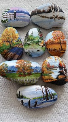 Rock Painting Patterns, Rock Painting Ideas Easy, Rock Painting Designs, Stone Art Painting, Pebble Painting, Pebble Art, Painted Garden Rocks, Mandala Painted Rocks, Stone Crafts
