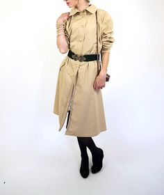 Beige trench coat women raincoat fall fashion by GrandpasParty