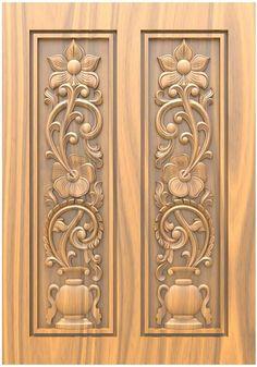 Single Door Design, Wooden Main Door Design, Double Door Design, Single Doors, Double Doors, Wood Carving Designs, Wooden Doors, 3d Design, Cnc