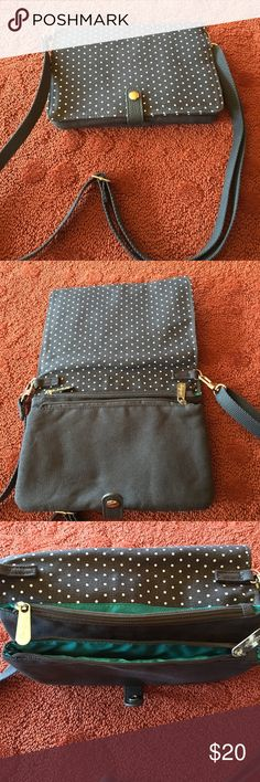 Gray polka dotted purse Gray polka dotted purse never used in excellent condition!!! Brand: my thirty one Bags Shoulder Bags