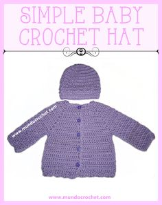 Simple baby Crochet hat and cardigan-free patterns