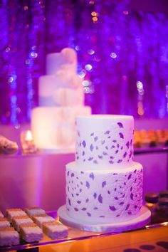 Five cakes and hundreds of mini treats filled this striking 16ft dessert bar.  Design by Alchemy Fine Events  www.alchemyfineevents.com