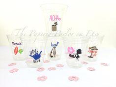Set of 12 Luau Party/Luau Party Cups/Luau/Luau Cups/Luau Decorations/Luau Party Ideas/Luau Theme/Luau Party Theme/Party Supplies