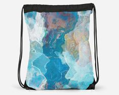 Cheap School Bags, Cinch Sack, Everyday Items, Travel Tote, Printed Bags, Digital Prints, Gym Bag, Abstract Art