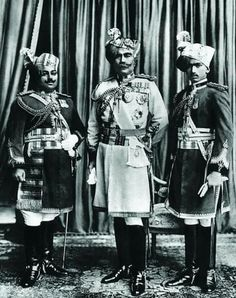 Maharaja Ganga Singh Ji (middle) with his Both Sons MK Sadul Singh Ji (left) and Maharaj Bijey Singh Ji (right) of #Bikaner