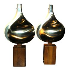 Two 1970-1980 Lamps Designed by Rémy for Maison Letang | From a unique collection of antique and modern table lamps at http://www.1stdibs.com/furniture/lighting/table-lamps/