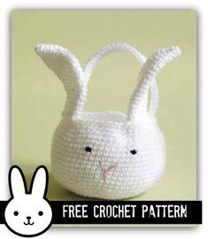 Easter Bunny Basket - Free Crochet Pattern