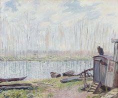 Banks of the Loing by Alfred Sisley