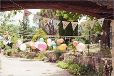 wedding bunting banner with date. so cute. (: photographer | VIA #WEDDINGPINS.NET