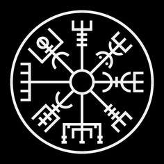Shop Vegvisir in white bandana created by BudgetSymbols. Odin Symbol, Viking Tattoo Symbol, Thor, Ying Y Yang, Protection Symbols, Viking Shield, Vegvisir, Viking Symbols, Symbolic Tattoos