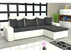 Rohová sedačka YORK L univerzální, černá látka/bílá ekokůže Rozkládací rohová sedačka YORK L univerzální Sedačka je univerzální = roh lze smontovat na pravý i levý. Obrázek rozložené sedačky je jen ilustrativní (jiná barva a typ … Outdoor Sectional, Sectional Sofa, Couch, Outdoor Furniture, Outdoor Decor, Home Decor, Modular Couch, Settee, Decoration Home
