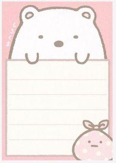Kawaii mini memo, San-X, Sumikko Gurashi - DIY Stationery Printable Stickers, Cute Stickers, Planner Stickers, Kawaii Stationery, Stationery Paper, Memo Notepad, Note Memo, Cute Notes, Little Twin Stars