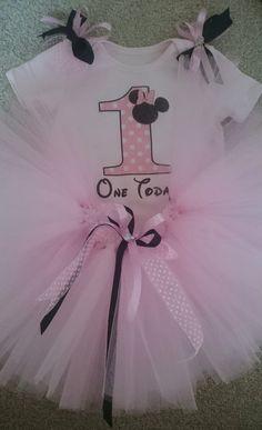 Pale Pink 1st Birthday Tutu Outfit LR Designs Tutu Boutique January 2015