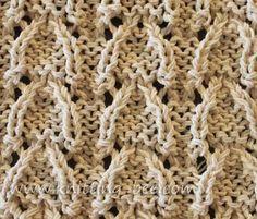 Vaulted Arched Lace Knitting Stitch Free knitting pattern