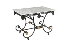 Marble-Top  French Pastry Table