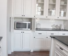 Love the microwave being hidden, and all the drawers that are used for storing pots, pans, dishes, etc.